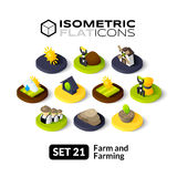 Isometric flat icons set 21 Royalty Free Stock Photos