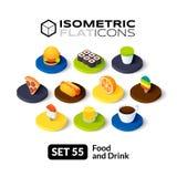 Isometric flat icons set 55 Royalty Free Stock Photos