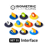Isometric flat icons set 31 Royalty Free Stock Photos