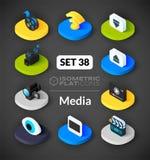 Isometric flat icons set 38 Royalty Free Stock Photography