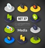Isometric flat icons set 37 Royalty Free Stock Photo