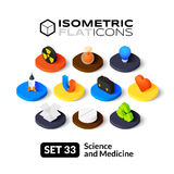 Isometric flat icons set 33 Royalty Free Stock Images