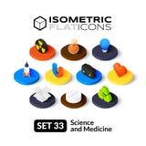 Isometric flat icons set 33 Royalty Free Stock Images
