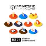 Isometric flat icons set 34 Stock Photo