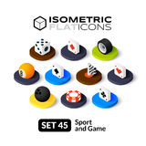Isometric flat icons set 45 Stock Images