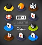 Isometric flat icons set 45 Stock Image