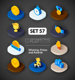 Isometric flat icons set 57 Stock Images