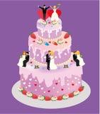 Isometric flat illustration. Wedding cake Stock Images