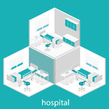 Isometric flat interior of hospital room. Stock Images