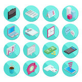 Isometric flat style design colorful business and Stock Photos