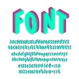 Isometric font set Stock Image