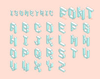Isometric font set. digital pixel isometric font set. vector sto. Ck royalty free illustration