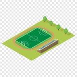 Isometric football field Royalty Free Stock Image