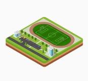 Isometric football stadium Royalty Free Stock Image