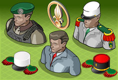 Isometric Foreign Legion Militar People Royalty Free Stock Photo