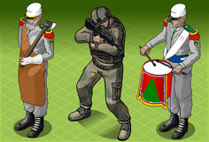 Isometric Foreign Legion Militar People Royalty Free Stock Image