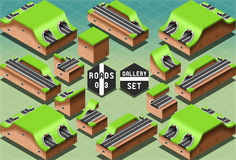 Isometric Galleries Tunnels and Sections Stock Photos