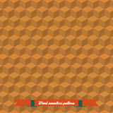 Isometric game brick cubes set. Vector wood cubes design elements for games. Seamless pattern Royalty Free Stock Photo
