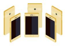 Isometric generic gold smartphone Stock Photo