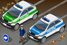 Isometric German Police Car Royalty Free Stock Image