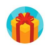 Isometric gift box icon Royalty Free Stock Photos