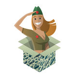 Isometric gift for day of defenders of fatherland. Stock Photography