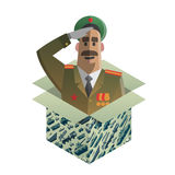 Isometric gift for day of defenders of fatherland. Royalty Free Stock Photo