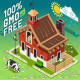 Isometric GMO Free Farming Royalty Free Stock Image