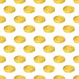Isometric gold. Seamless pattern US dollar. Royalty Free Stock Photo