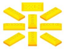 Isometric golden bar Royalty Free Stock Image