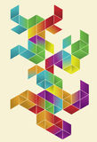 Isometric Gradient Cube Page Design Stock Images