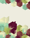 Isometric Gradient Cube Page Design Stock Photos