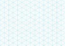 Isometric graph paper background plotting triangular vector ruler line grid engineering drawing Stock Photography