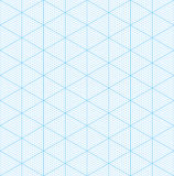 Isometric graph paper for 3D design. Seamless  pattern Royalty Free Stock Image