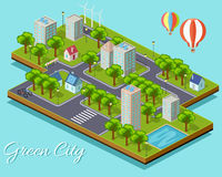 Isometric  Green City Concept Royalty Free Stock Photography