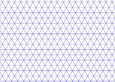 Isometric grid blue. Triangle line background vector. Stock Photography