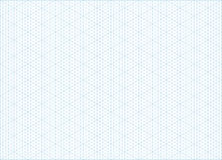 Isometric grid graph paper background. Blue vector isometric grid graph paper accented every 5 steps A4 landscape oriented background Stock Photography