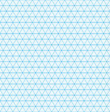 Isometric grid paper. Seamless pattern. Royalty Free Stock Image