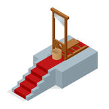 Isometric Guillotine vector Illustration Royalty Free Stock Images