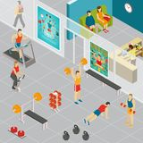 Isometric Gym Room Composition Stock Photography