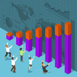 Isometric Happy Business People Celebrating Success Royalty Free Stock Photography
