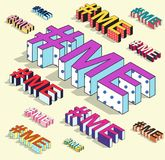 Isometric hashtag - ja Internetowy blogging Zdjęcia Stock