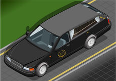 Isometric Hearse in Front View Royalty Free Stock Photos