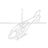 Isometric helicopter icon Royalty Free Stock Photos