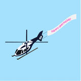 Isometric helicopter with ridgepole Royalty Free Stock Image