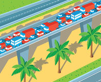 Isometric highway Stock Images