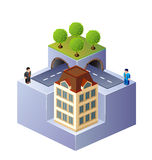 Isometric home Royalty Free Stock Photos