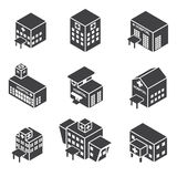 Isometric hospital building icon Royalty Free Stock Image