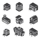 Isometric hospital building icon Royalty Free Stock Image