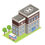 Isometric hospital. Stock Images